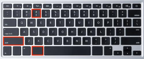 cara print screen menggunakan command + shift + 3