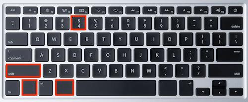 cara print screen menggunakan command + shift + control + 4