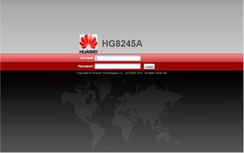 Login Huawei HG8245A