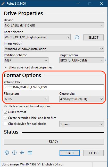 Mengatur Format Options