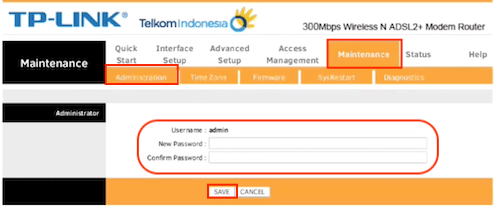 Mengganti Password Admin Wifi TP-Link TD-W8961N